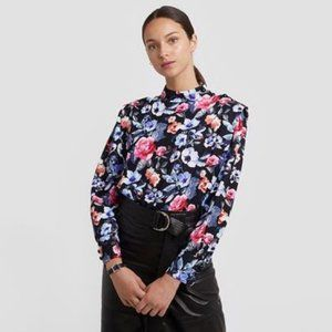 NEW Rebecca Minkoff Floral Long Sleeve Blouse XS